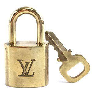 Louis Vuitton Gold Keepall Speedy Lock Key Set#314